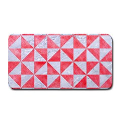 Triangle1 White Marble & Red Watercolor Medium Bar Mats by trendistuff