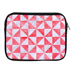 Triangle1 White Marble & Red Watercolor Apple Ipad 2/3/4 Zipper Cases by trendistuff