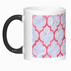 Tile1 White Marble & Red Watercolor (r) Morph Mugs by trendistuff
