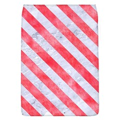 Stripes3 White Marble & Red Watercolor Flap Covers (l)  by trendistuff