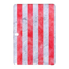 Stripes1 White Marble & Red Watercolor Samsung Galaxy Tab Pro 12 2 Hardshell Case by trendistuff
