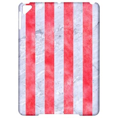 Stripes1 White Marble & Red Watercolor Apple Ipad Pro 9 7   Hardshell Case by trendistuff
