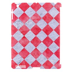 Square2 White Marble & Red Watercolor Apple Ipad 3/4 Hardshell Case (compatible With Smart Cover) by trendistuff