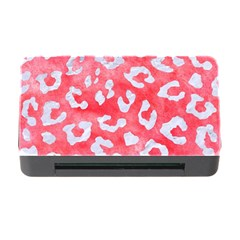 Skin5 White Marble & Red Watercolor (r) Memory Card Reader With Cf by trendistuff