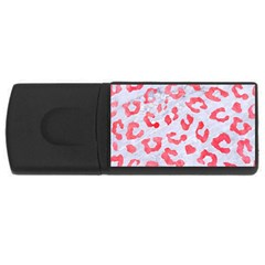 Skin5 White Marble & Red Watercolor Rectangular Usb Flash Drive