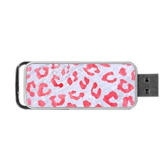 Skin5 White Marble & Red Watercolor Portable Usb Flash (one Side) by trendistuff