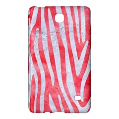 Skin4 White Marble & Red Watercolor (r) Samsung Galaxy Tab 4 (8 ) Hardshell Case  by trendistuff