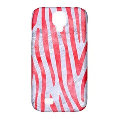 Skin4 White Marble & Red Watercolor Samsung Galaxy S4 Classic Hardshell Case (pc+silicone)