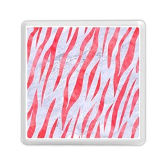 Skin3 White Marble & Red Watercolor (r) Memory Card Reader (square)  by trendistuff