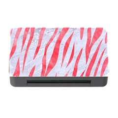 Skin3 White Marble & Red Watercolor (r) Memory Card Reader With Cf by trendistuff