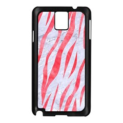 Skin3 White Marble & Red Watercolor (r) Samsung Galaxy Note 3 N9005 Case (black) by trendistuff