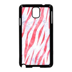Skin3 White Marble & Red Watercolor (r) Samsung Galaxy Note 3 Neo Hardshell Case (black) by trendistuff