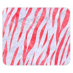 Skin3 White Marble & Red Watercolor (r) Double Sided Flano Blanket (small)