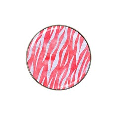 Skin3 White Marble & Red Watercolor Hat Clip Ball Marker (10 Pack) by trendistuff