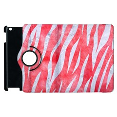Skin3 White Marble & Red Watercolor Apple Ipad 2 Flip 360 Case by trendistuff