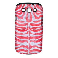 Skin2 White Marble & Red Watercolor Samsung Galaxy S Iii Classic Hardshell Case (pc+silicone) by trendistuff