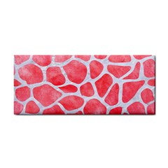 Skin1 White Marble & Red Watercolor (r) Cosmetic Storage Cases by trendistuff