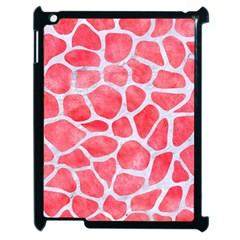 Skin1 White Marble & Red Watercolor (r) Apple Ipad 2 Case (black) by trendistuff