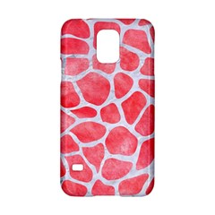 Skin1 White Marble & Red Watercolor (r) Samsung Galaxy S5 Hardshell Case  by trendistuff