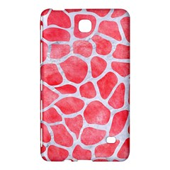 Skin1 White Marble & Red Watercolor (r) Samsung Galaxy Tab 4 (7 ) Hardshell Case  by trendistuff