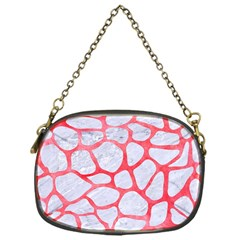 Skin1 White Marble & Red Watercolor Chain Purses (one Side)  by trendistuff