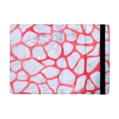 Skin1 White Marble & Red Watercolor Apple Ipad Mini Flip Case by trendistuff