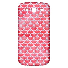 Scales3 White Marble & Red Watercolor Samsung Galaxy S3 S Iii Classic Hardshell Back Case by trendistuff