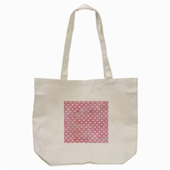 Scales2 White Marble & Red Watercolor (r) Tote Bag (cream) by trendistuff