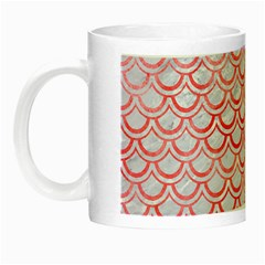 Scales2 White Marble & Red Watercolor (r) Night Luminous Mugs by trendistuff
