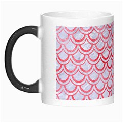 Scales2 White Marble & Red Watercolor (r) Morph Mugs by trendistuff