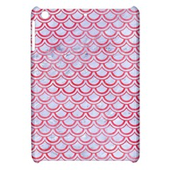 Scales2 White Marble & Red Watercolor (r) Apple Ipad Mini Hardshell Case by trendistuff