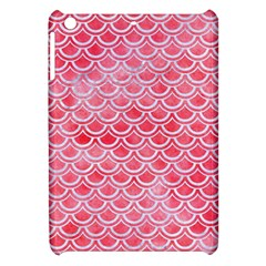 Scales2 White Marble & Red Watercolor Apple Ipad Mini Hardshell Case by trendistuff