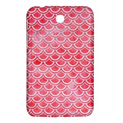 Scales2 White Marble & Red Watercolor Samsung Galaxy Tab 3 (7 ) P3200 Hardshell Case  by trendistuff