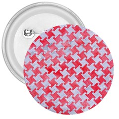 Houndstooth2 White Marble & Red Watercolor 3  Buttons by trendistuff