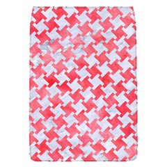 Houndstooth2 White Marble & Red Watercolor Flap Covers (s)  by trendistuff