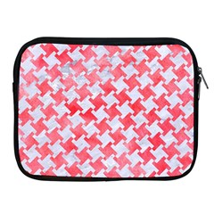Houndstooth2 White Marble & Red Watercolor Apple Ipad 2/3/4 Zipper Cases by trendistuff