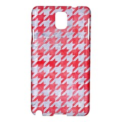 Houndstooth1 White Marble & Red Watercolor Samsung Galaxy Note 3 N9005 Hardshell Case by trendistuff