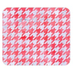 Houndstooth1 White Marble & Red Watercolor Double Sided Flano Blanket (small)  by trendistuff