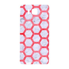 Hexagon2 White Marble & Red Watercolor (r) Samsung Galaxy Alpha Hardshell Back Case by trendistuff