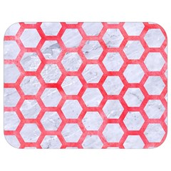Hexagon2 White Marble & Red Watercolor (r) Full Print Lunch Bag