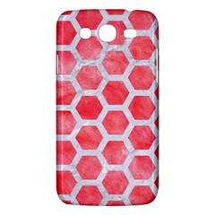 Hexagon2 White Marble & Red Watercolor Samsung Galaxy Mega 5 8 I9152 Hardshell Case  by trendistuff