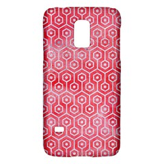 Hexagon1 White Marble & Red Watercolor Galaxy S5 Mini by trendistuff