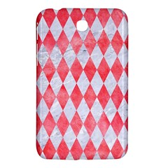 Diamond1 White Marble & Red Watercolor Samsung Galaxy Tab 3 (7 ) P3200 Hardshell Case  by trendistuff
