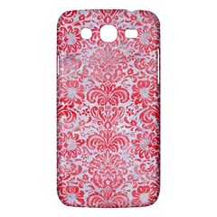 Damask2 White Marble & Red Watercolor (r) Samsung Galaxy Mega 5 8 I9152 Hardshell Case  by trendistuff