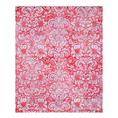 Damask2 White Marble & Red Watercolor Shower Curtain 60  X 72  (medium)  by trendistuff