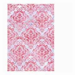 Damask1 White Marble & Red Watercolor (r) Small Garden Flag (two Sides) by trendistuff