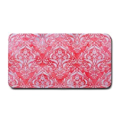 Damask1 White Marble & Red Watercolor Medium Bar Mats by trendistuff