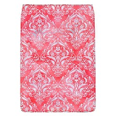 Damask1 White Marble & Red Watercolor Flap Covers (l)  by trendistuff
