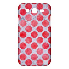 Circles2 White Marble & Red Watercolor (r) Samsung Galaxy Mega 5 8 I9152 Hardshell Case  by trendistuff