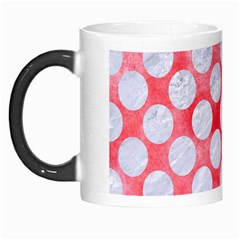 Circles2 White Marble & Red Watercolor Morph Mugs by trendistuff